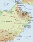 Carta geografica Oman
