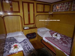 Crociera in Oman, foto di una cabina standard della motonave Saman Explorer