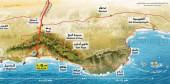 Crociera in Oman, piantina del Mar Arabico, Oceano Indiano.