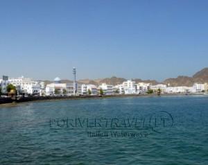 Tour in Oman, foto del lungomare di Muscat, il vecchio porto, detto Muttrah o Mutrah.