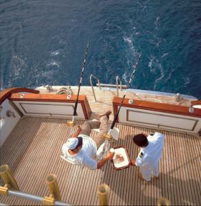 Foto crociere in Oman, pesca d'altura in Oman dal pozzetto.