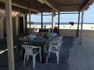 viaggi in Oman sud, foto delle isole del Dhofar, la terrazza del lodge.