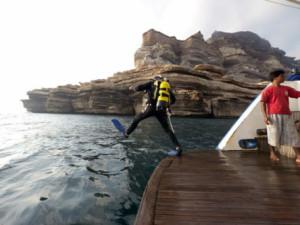 Motonave per crociera sub in Oman.