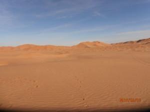Tour in Oman, foto del Rub al Khali, parte del deserto Empty Quarter, nel Dhofar.