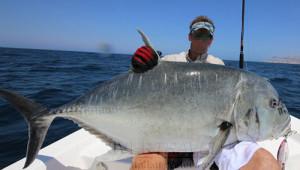 Pesca nelle Isole del Sud Oman, Mare Arabico, famose per la pesca da Big Game. Foto della barca per la pesca, popping, jigging al G.T. ed altri pesci da record. Foto di un grosso G.T.