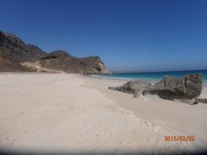 Foto del mare Arabico, oceano Indiano nel Dhofar, Oman del sud, lungo la via dell' incenso, nei dintorni di Salalah. D.B.