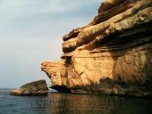 Pesca nelle Isole del Sud Oman, Oceano Indiano, famose per la pesca del G.T.. Foto dalla barca dell' isola dei pescatori.