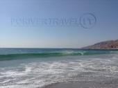 Foto del mare Arabico, oceano Indiano nel Dhofar, Oman del sud, lungo la via tra Salalah e Shuwaymia.
