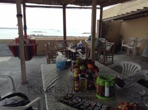 Pesca nelle Isole del Sud Oman, Oceano Indiano, famose per la pesca da Big Game. Foto del Lodge della isola dei pescatori.