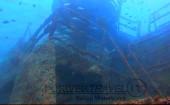 Scuba diving, viaggi per Sub in Oman Sud, foto di un relitto durante una immersione nel Dhofar.