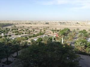 Soggiorno mare Oman, hotel Millennium Muscat. Foto del parcheggio.