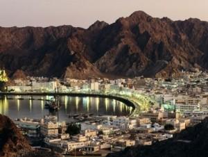 Viaggi in Oman, foto di Muscat di sera