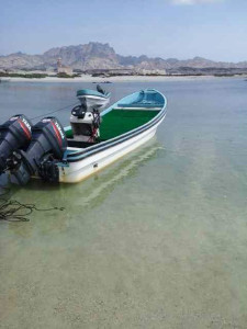Fly fishing in Oman, foto di barca per la pesca a mosca in mare