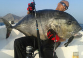 Oman pesca in mare jigging popping G.T. fly fishing in mare