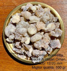 Vendita incenso in grani Al Hojari Dhofar Oman grado da 12a 20 mm